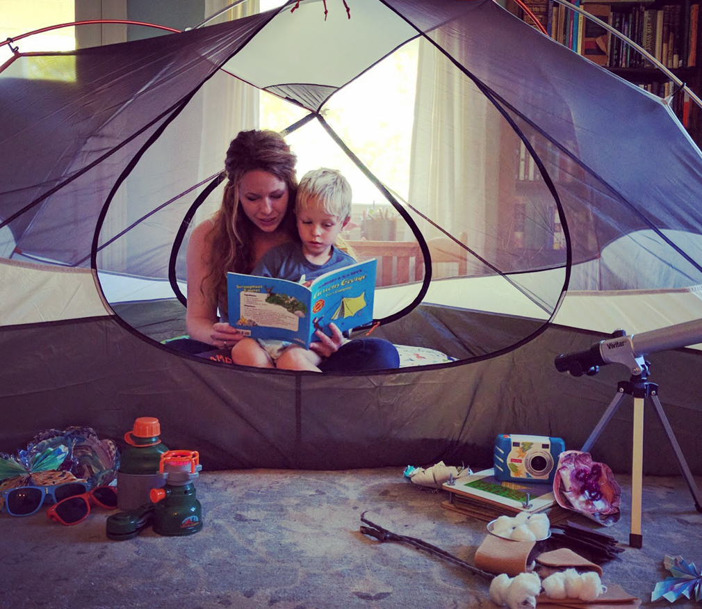 Indoor Camping with Kids the mama village