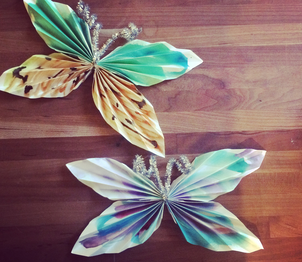 Paper Butterflies with the Mama Village