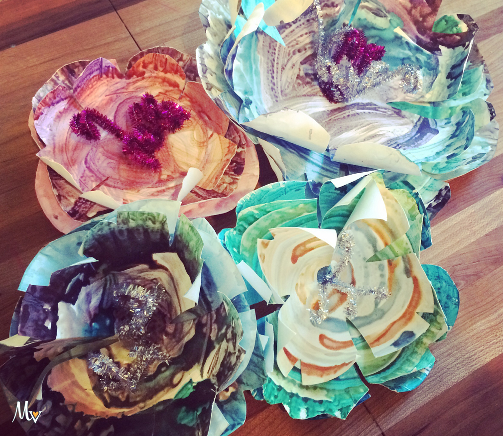 Paper Plate Flowers with the Mama Village